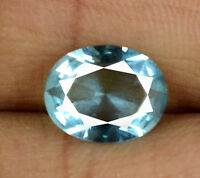 Natural Aqua Blue Aquamarine Brazilian Gemstone 2.00 Ct Oval Cut AGSL Certified
