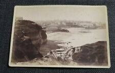 BIARRITZ  ancienne photographie vue plage  sur carton d'origine BERILLON