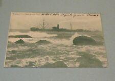 1911 USS Nero off Block Island Rhode Island RPPC Real Photo Military Postcard
