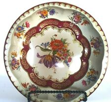Daher Decorated Ware 11101 England Floral Pattern Metal Fruit Candy Gift Bowl