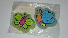 Eraser, Gomas de Borrar, Goma de Mariposa Colores, x2, Regalo, Goma, NUEVO / NEW