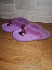 UGG COQUETTE SEQUIN BOW BODACIOUS SUEDE SHEEPSKIN WOMENS SLIPPERS SIZE US 12 NEW