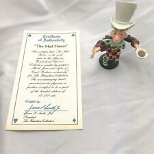 Vintage Alice in Wonderland The Mad Hatter Pewter Figurine Hamilton Metal Rare