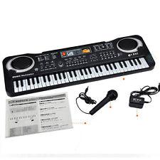 61 Saiten Keyboard Klavier E- Piano Kinder Geschenk Lernfunktion Schwarz