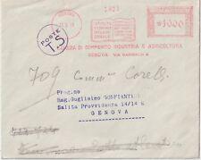 ITALIA 1953 AFFRANCATURA ROSSA GENOVA CAMERA DI COMMERCIO INDUSTRIA E AGRICOLTUR