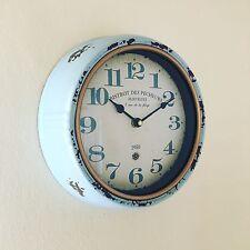 Rustique et de Style Antique Effet Vieilli Look Horloge murale Bistrot des pecheurs Martigues