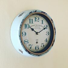 Reloj De Pared & ANTIGUO ESTILO aspecto desgastado Rústico Bistrot des Pecheurs Martigues