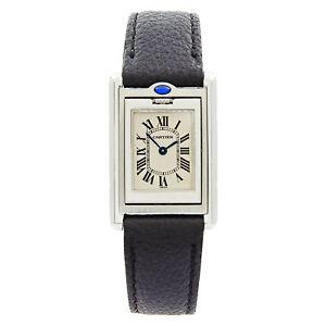 Cartier Tank Basculante Steel Reversible Case Quartz Ladies Watch W1011158