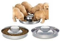 High Quality Stainless Steel Multi Puppy Litter Feeder Dish Bowl - Choose Size