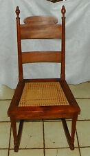 Mahogany Caned Seat Sewing Rocker / Rocking Chair (Cs-R196)