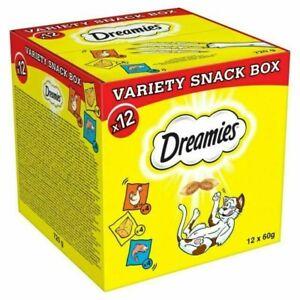 Dreamies Cat Treats Variety Snack Box – 12 Piece