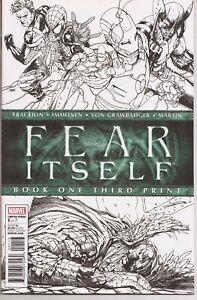 °FEAR ITSELF BOOK ONE° US Marvel 2011 3. Ausdruck S&W Cover Brubaker & Fraction