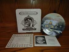 """Knowles """"Home to Grandmas"""" Christmas Plate by Thomas Kinkade w/ Box & Paperwork"""