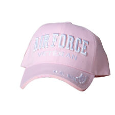 US Honor Official Embroidered Air Force Veteran Pink Baseball Caps Hats