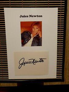 "Juice Newton (Welthit ""Angel of the morning"") - Originalautogramm DIN-A-4"