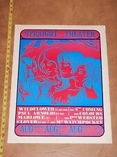 1968 Clover, Wildflower Straight Theater Concert Poster Haight Ashbury Sf Terre