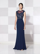 Authenic Cameron Blake by Mon Cheri 115616-Color:Navy/Nude-Size 14-MOB