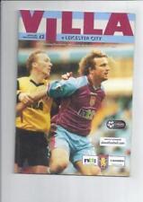 Aston Villa Past Domestic Leagues Home Teams A-B Football Programmes