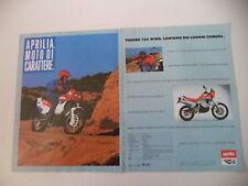 advertising Pubblicità 1989 MOTO APRILIA 125 TUAREG WIND