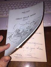 CIELO NELLE MANI poesie ANGELA FABBRI + dedica autografa + disegni ALBERTO SUGHI