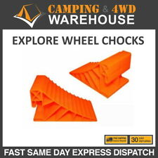Explore Caravan Wheel Chock - Orange, Pair