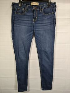HOLISTER Women's/Juniors Dark Wash Mid Rise Super Skinny Stretch Jeggings sz 11R
