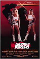 SAVAGE BEACH Movie POSTER 27x40 Dona Speir Hope Marie Carlton Bruce Penhall