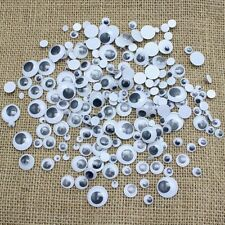 120+ MIXED WIBBLY WOBBLY GOOGLY EYES. CRAFTS, STICK ON STICKERS,  SELF ADHESI