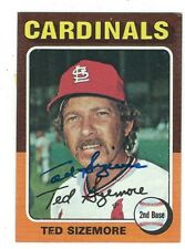 Autographed Ted Sizemore St. Louis Cardinals 1975 Topps card #404 w/Coa