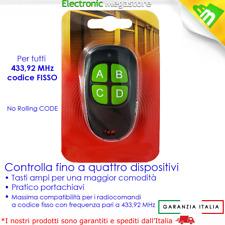 TELECOMANDO UNIVERSALE APRICANCELLO COMPATIBILE CAME,NICE, FADINI, BFT, FAA C