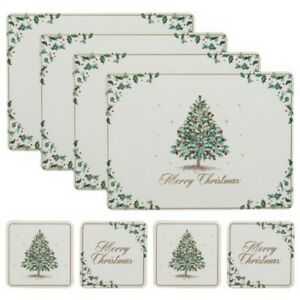 O8 Pcs Christmas Placemats & Coaster Sets- Tableware To Match The Festive Period