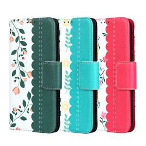 For Samsung Galaxy A10S Leather Flip Wallet Phone Case Protector Cover Floral