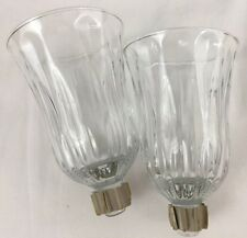 Home Interiors Homco 2 Chantilly Design Glass Votive Cups Sconce Candle Holders