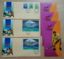 Malaysia KL 2002 Hockey World Cup 3v Stamps +MS + imperf MS on 3 FDC (KL Cachet)