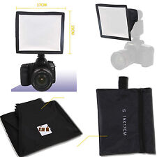 New 15x17cm Foldable Flash Diffuser Softbox For Canon Nikon Pentax Sony Olympus