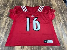 Louisville Cardinals Team Issue Red Adidas College Football Jersey - Size 56