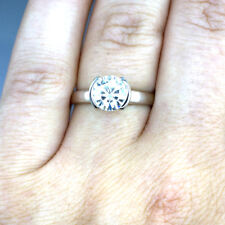 2.00 CT Round Cut Solitaire Diamond Engagement Ring GIA Certified Platinum