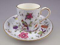 Vintage Crown Staffordshire Bird of Paradise Demitasse Cup & Saucer