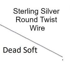 925 Sterling Silver Round Twist Wire Dead Soft Different Gauges & Lengths 20 ga