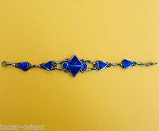 orient Nomaden  Armband Lapis Neusilber + Vintage afghan Kuchi bracelet  ALPKA3