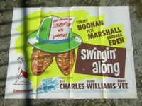 Vintage Movie poster - Original - Swingin along - 101 x 75 cm - 1961