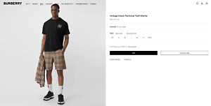 Burberry Vintage Check Technical Twill Shorts Size M