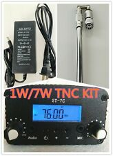 stereo PLL broadcast radio FM transmitter 1W/7W 76-108MHZ+power+antenna kit