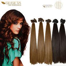 Hair Extensions SEISETA 10 ciocche con cheratina capelli veri umani Remy 2002vn