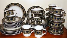 MIKASA ARABELLA 46 PIECE DINNERWARE SET PLATES BOWLS MUGS CREAMER FREE SHIP
