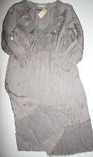 Cream DK  Tunika Kleid  Dress Crushed Tunik Sky Grey  size: 40 Neu