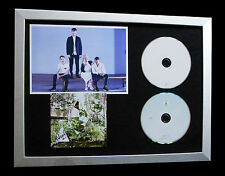 CLEAN BANDIT+SIGNED+FRAMED+NEW EYES+HOUSE+RATHER=100% AUTHENTIC+FAST GLOBAL SHIP
