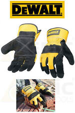 DeWalt Premium Leather Rigger Work/Site/Builders Gloves Size Large L/XL DPG41L