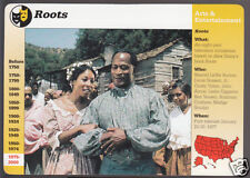 ROOTS TV Mini Series John Amos Madge Sinclair GROLIER STORY OF AMERICA CARD