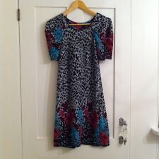 Culture Leopard And Floral Print Warm Dress, Size 10